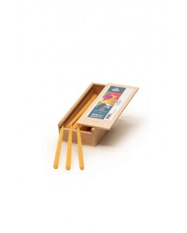 T20 taartkaarsjes in een houten kistje 25 stuks