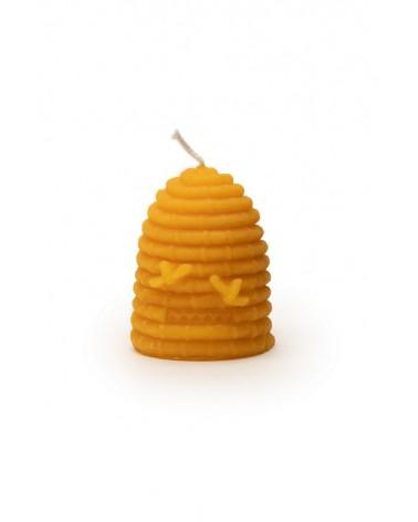 KO Kaars in de vorm van een bijenkorf met twee bijtjes
